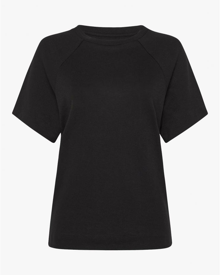 Henri Raglan T Shirt in Black