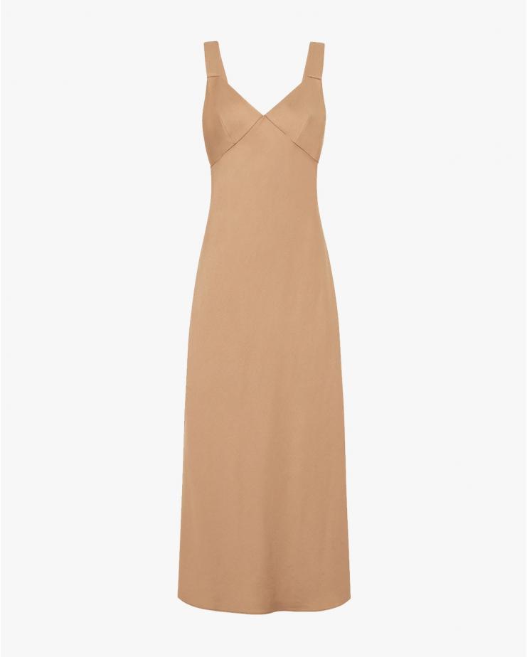 Zoe Slip Dress in Caramello