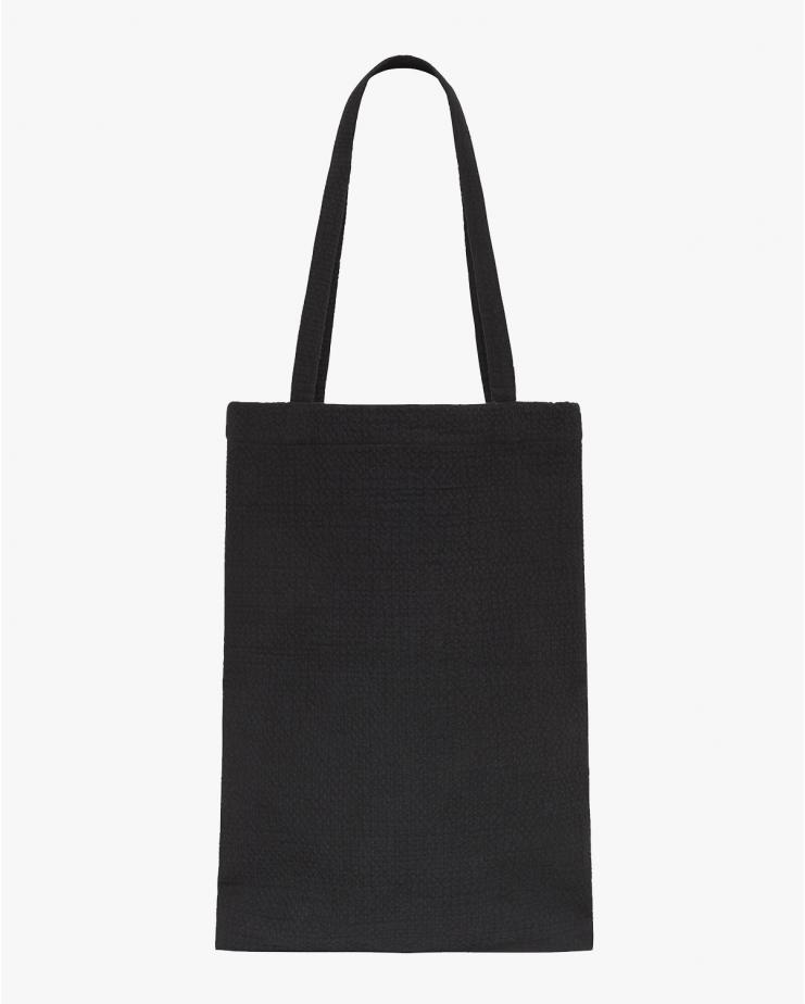 Waffle Tote Bag in Black