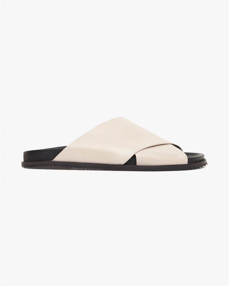 Arne Crossover Sandals in Ecru
