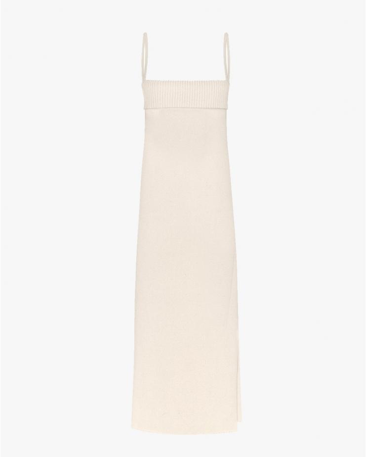 Georgia Knit Dress in Ecru