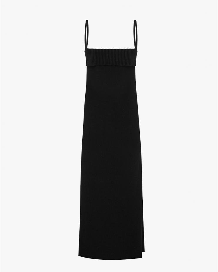 Georgia Knit Dress in Black
