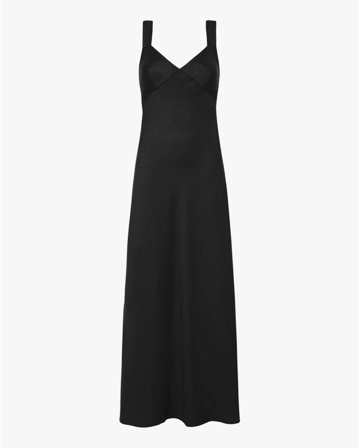 Zoe Slip Dress in Black