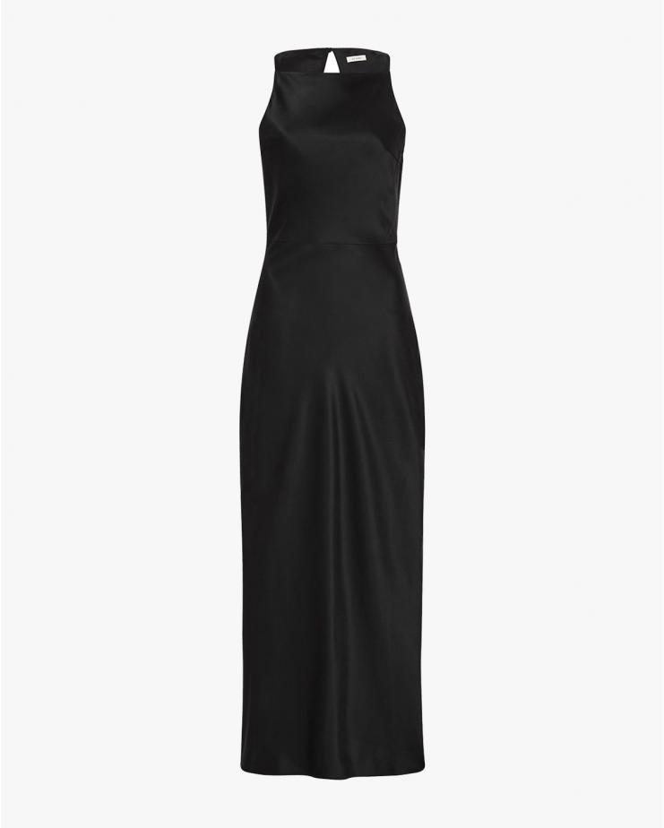 Jules Silk Slip Dress in Black