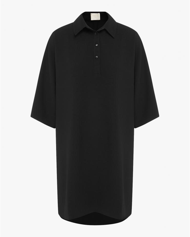 Polo Dress in Black