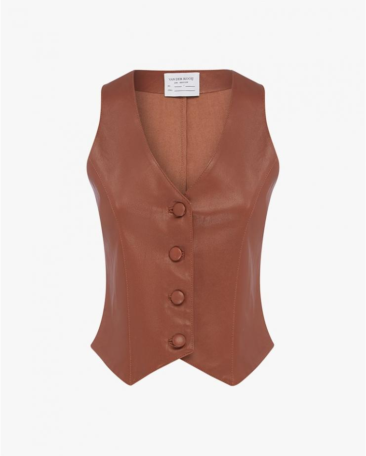 Stretch Leather Vest
