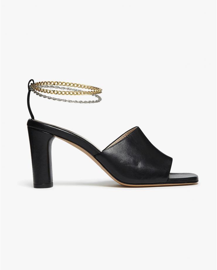 Inez Sandals in Black