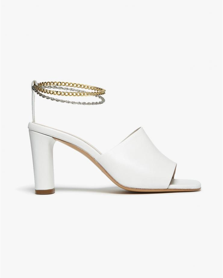 Inez Sandals in White