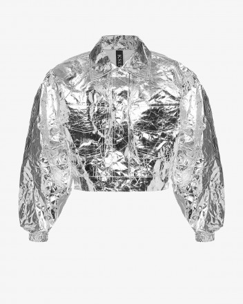 Cropped Silver Jacket