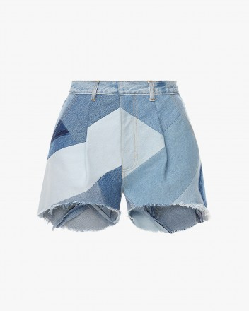 Patchwork Mini Shorts