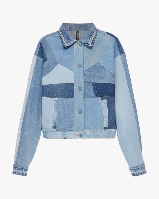 Denim Jacket With a Corset Detail