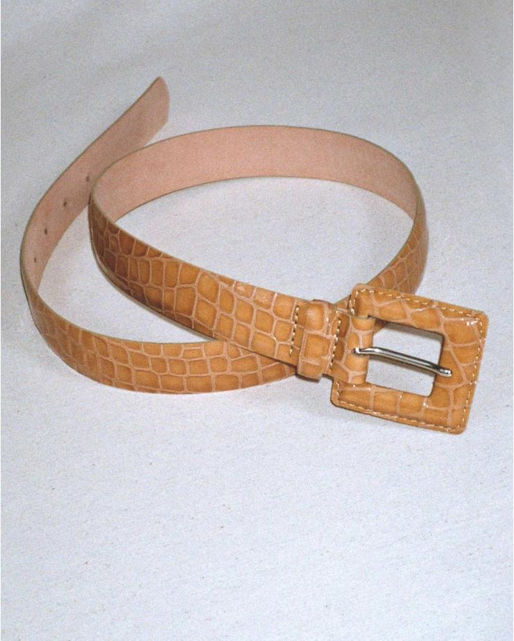 Roma Belt in Toffee