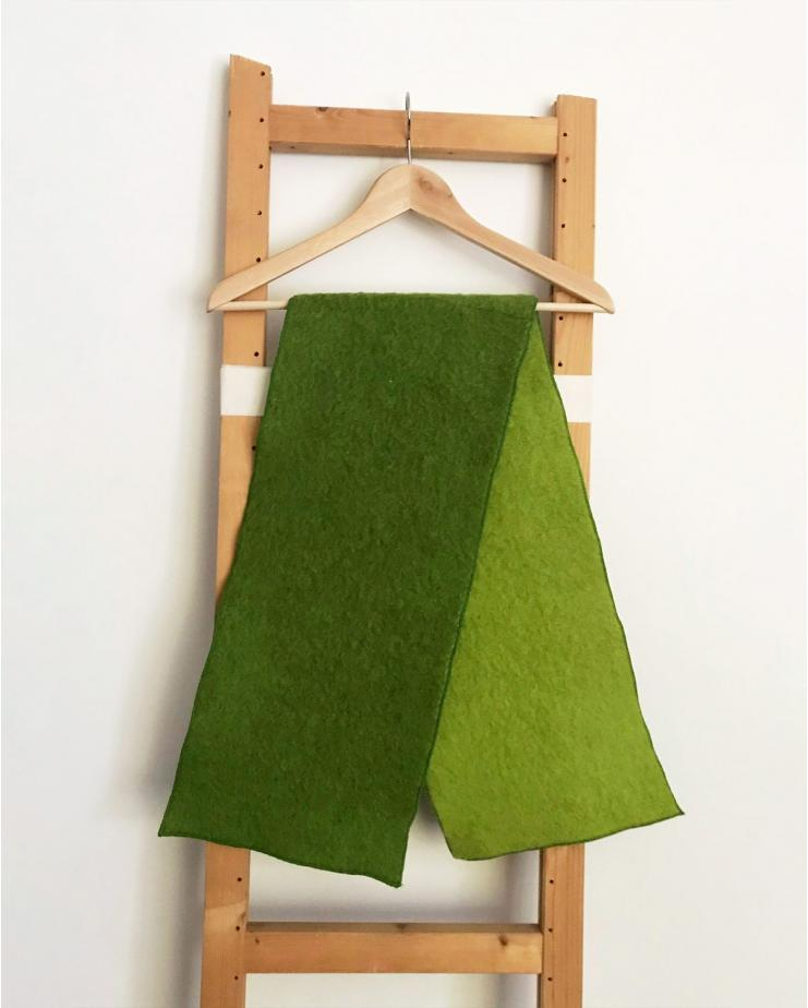 Double Green Scarf