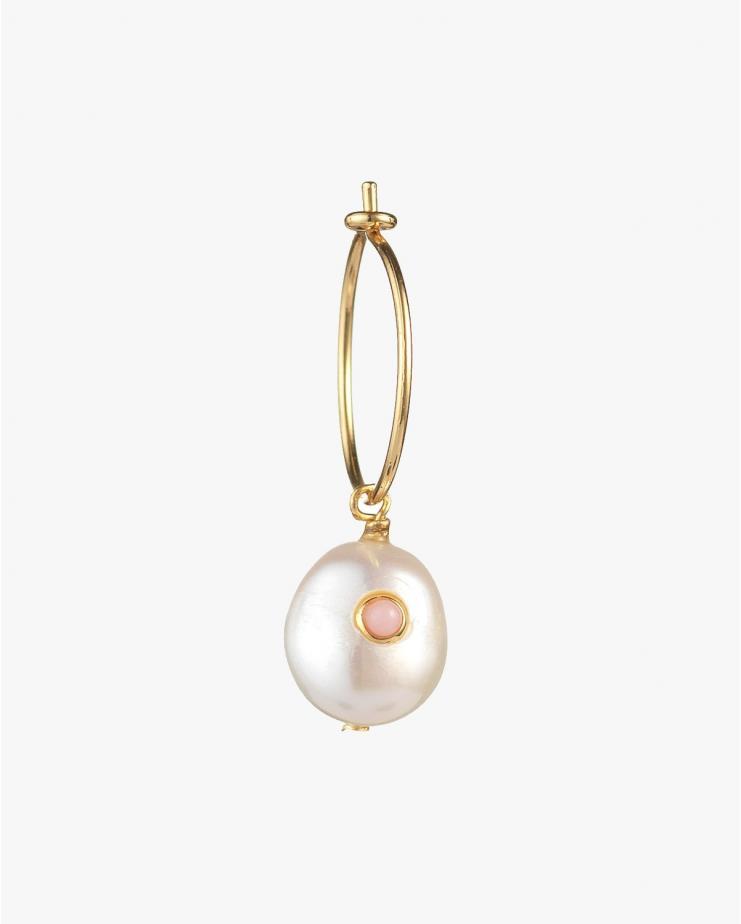Pearl Hoop in Pink Sand