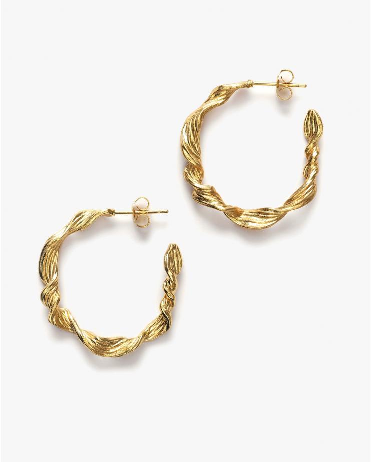 Seaweed Hoop Earrings