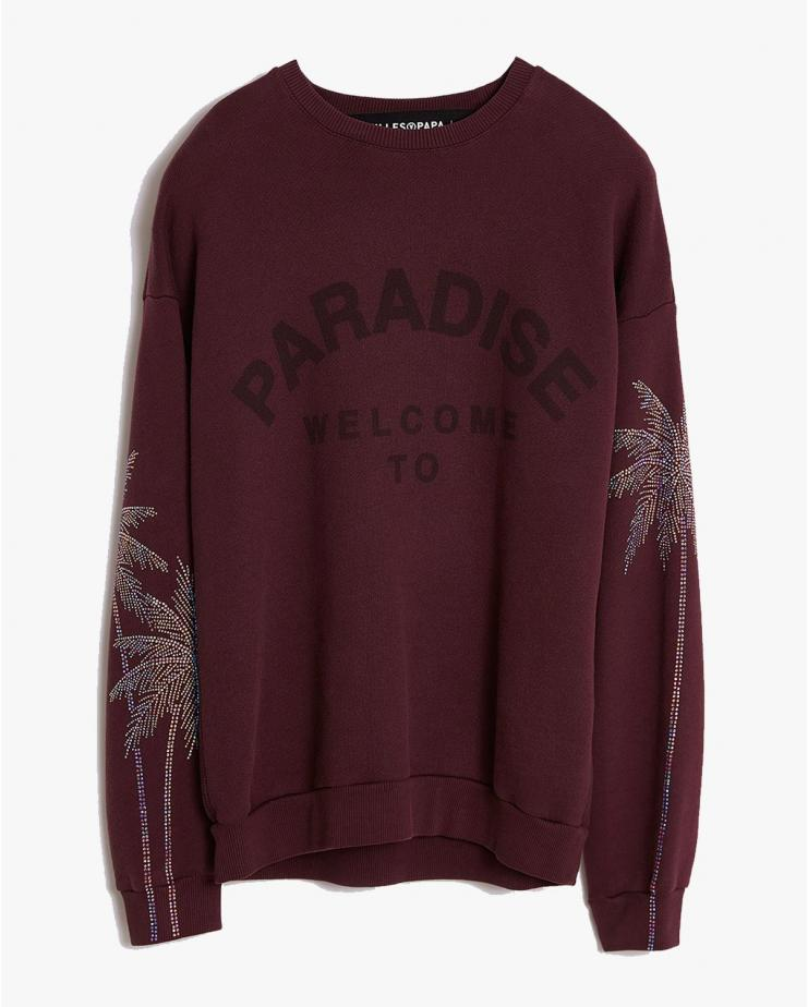Paradise Sweater in Burgundy