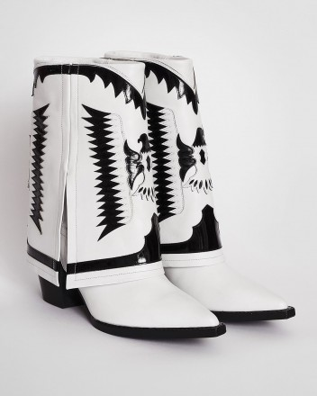 Texas Low Boots in White