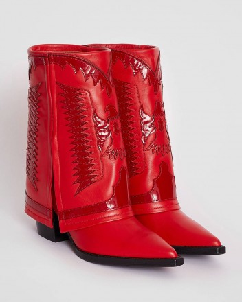 Texas Low Boots in Red