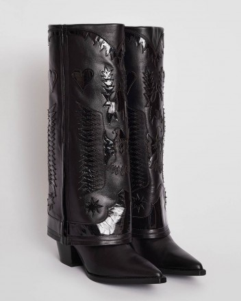 Texas High Boots in Black