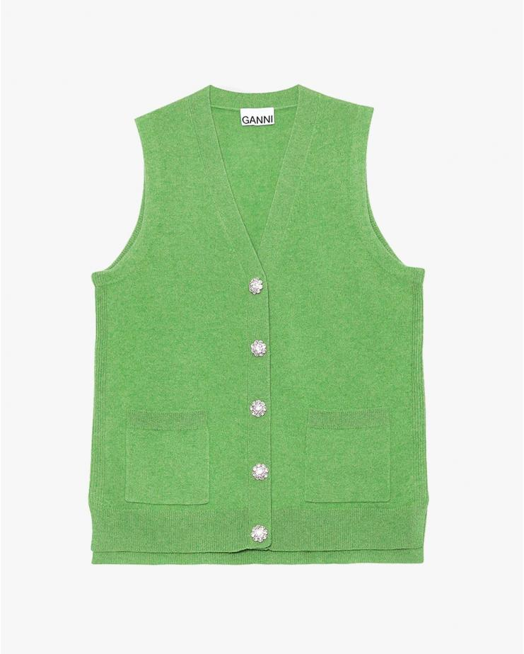 Cashmere Knit Vest in...