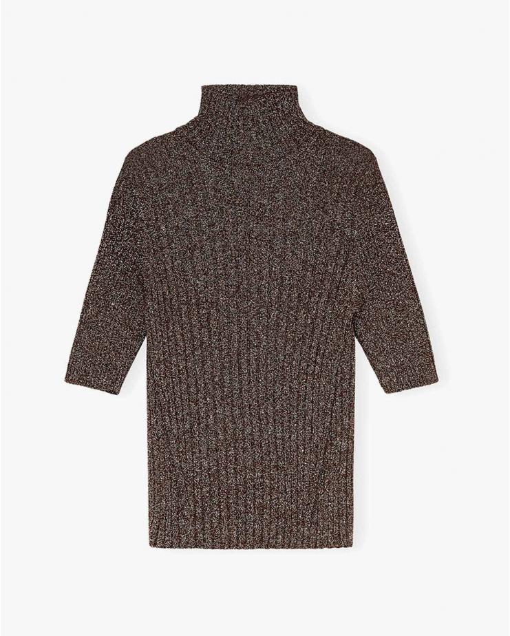 Glitter Knit Shirt in Mole