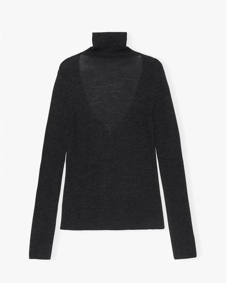 Light Merino Knit Shirt in...