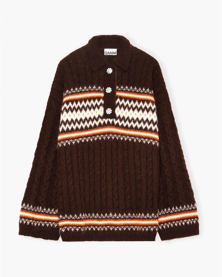 Fine Alpaca Knit Sweater in...