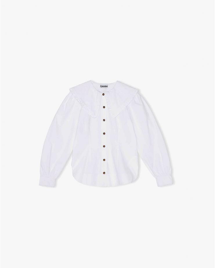 Cotton Poplin in Bright White