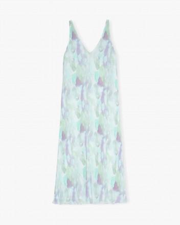 Pleated Georgette Long Dress