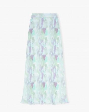 Pleated Georgette Skirt in...