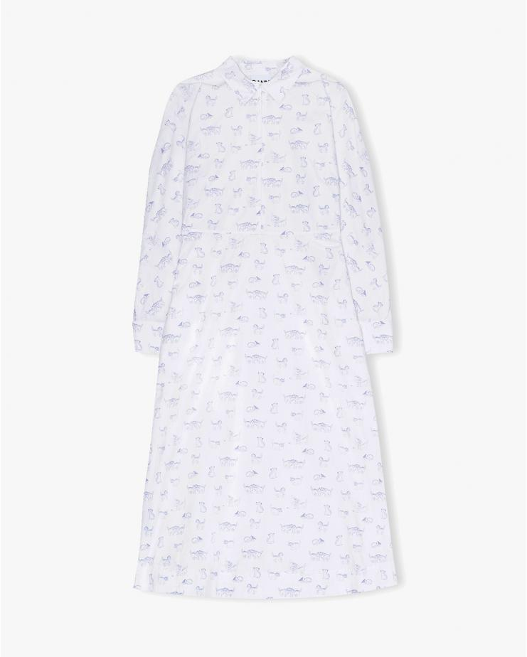 Printed Cotton Poplin Dress...