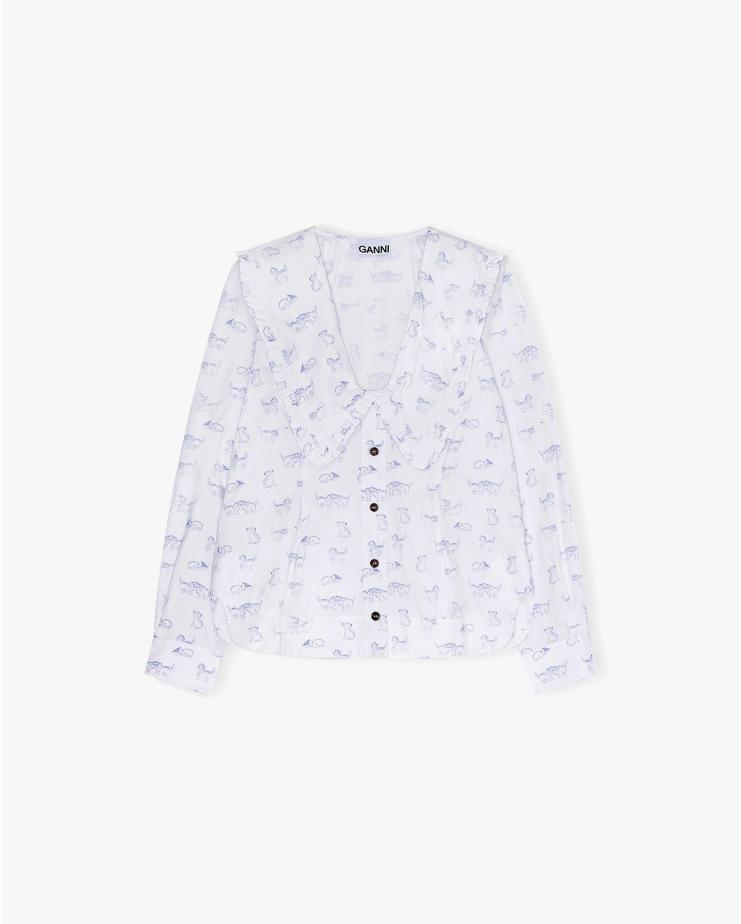 Printed Cotton Poplin Shirt...