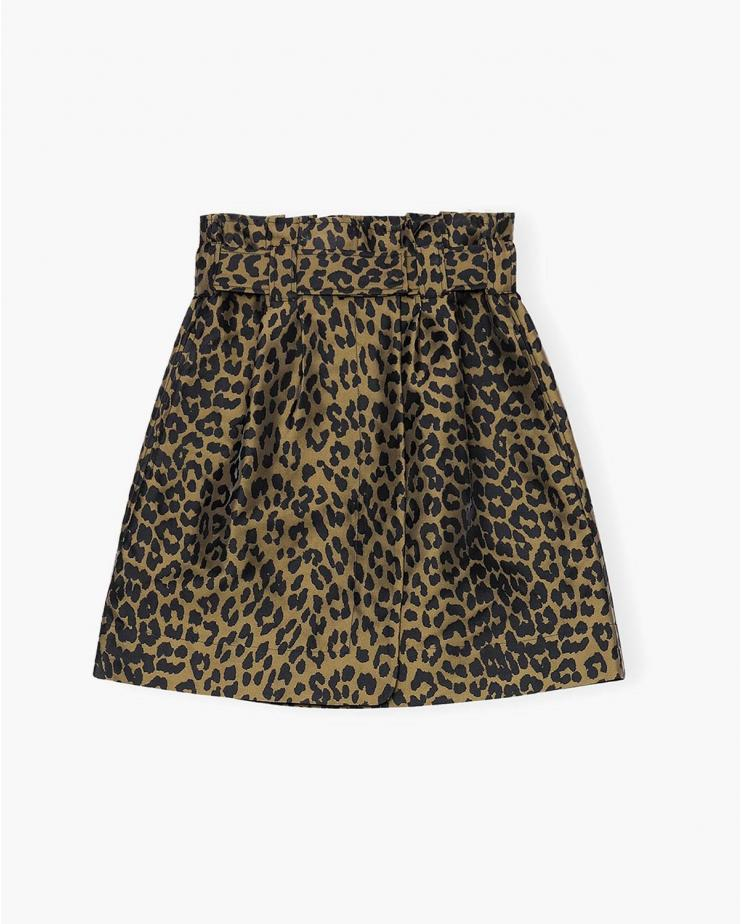 Crispy Jacquard Skirt in...