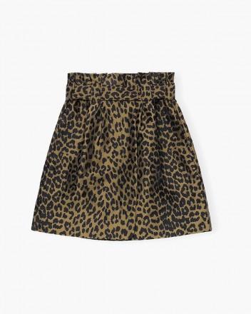 Crispy Jacquard Skirt in...