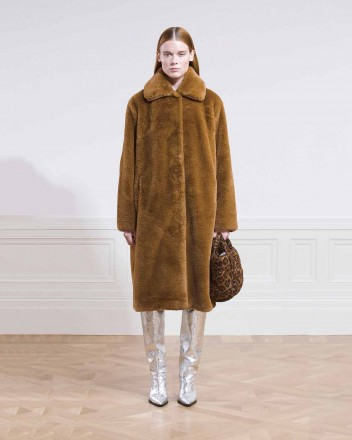 Maxine Coat Faux Fur in...