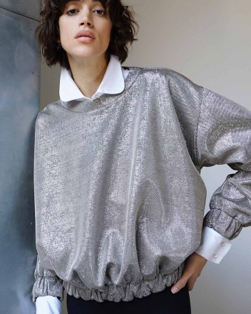 Betty Sweatshirt in Metallic