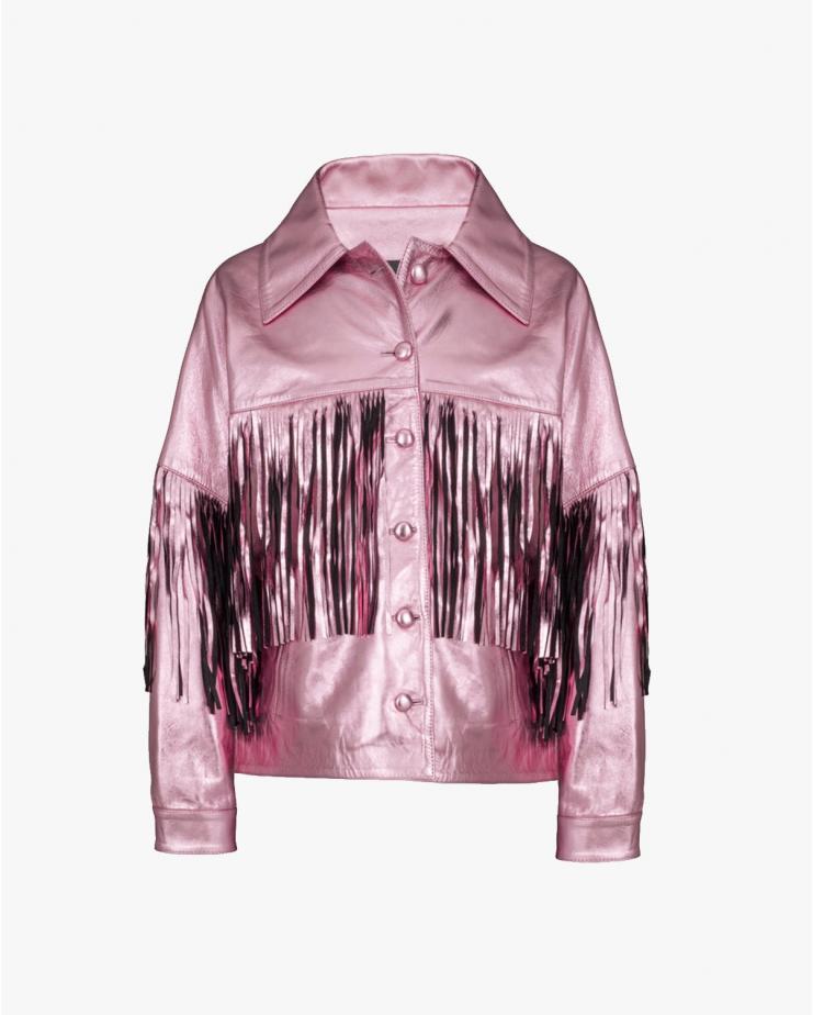 Taylor Metallic Jacket in Pink
