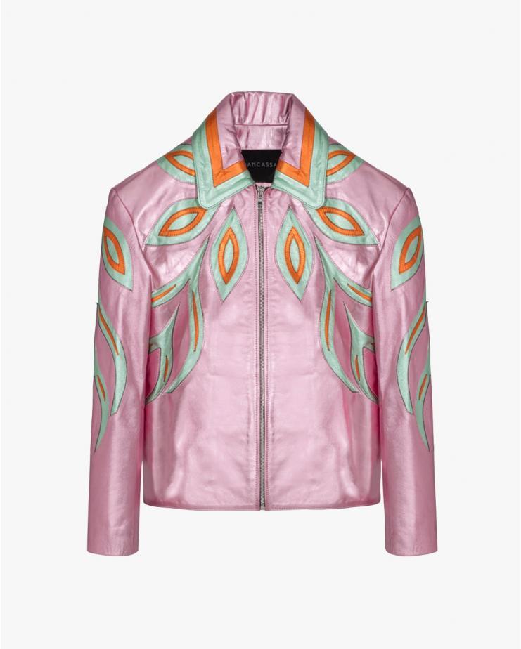 Wind Metallic Jacket in Pink
