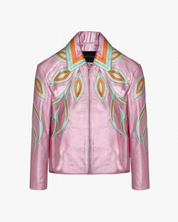 Wind Metallic Jacket in Pink