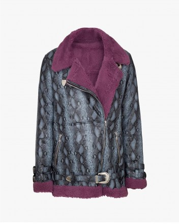 Wonder Python Jacket in Purple