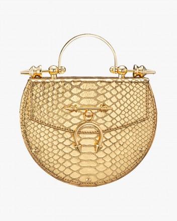 Oak on Brass Gold Python Bag