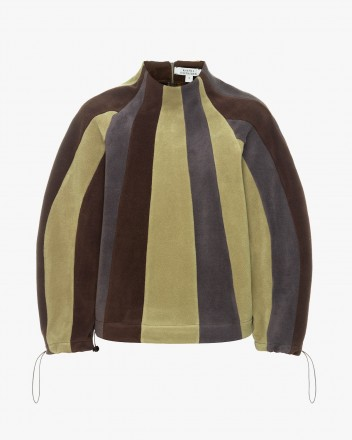Fleece Striped Sweatshirt
