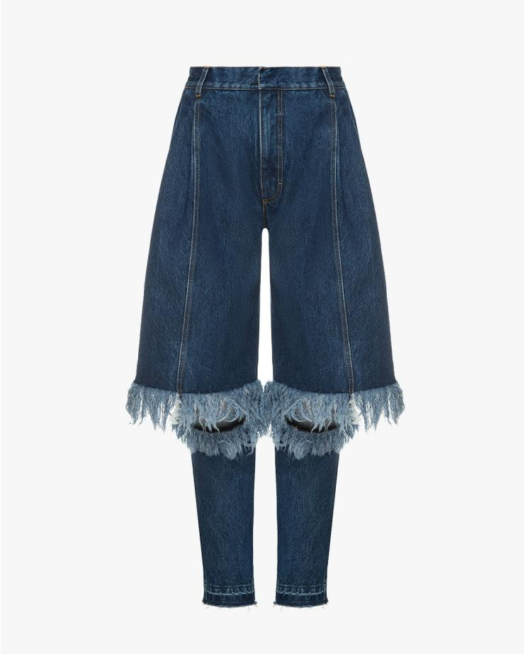 Denim With Distressed Knees