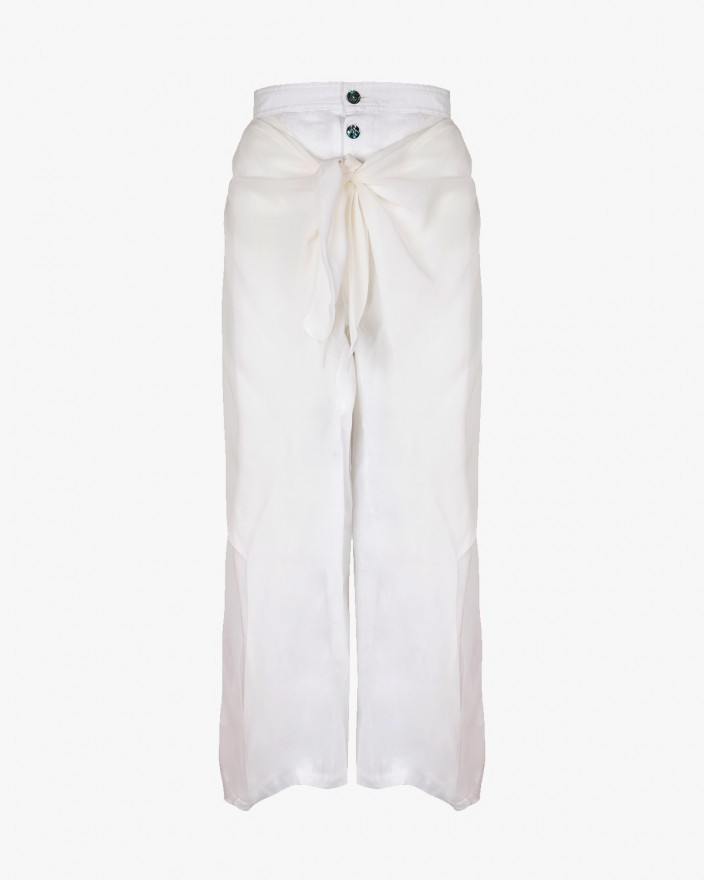 White Wrap Trousers