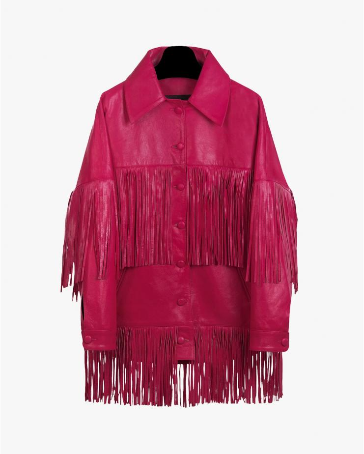 Loretta Jacket in Dark Pink