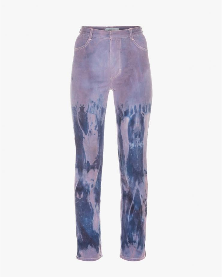 Mom Tie Dye Jeans in Purple