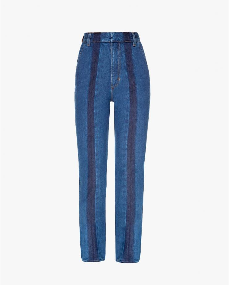 Slim Jeans Striped in Blue