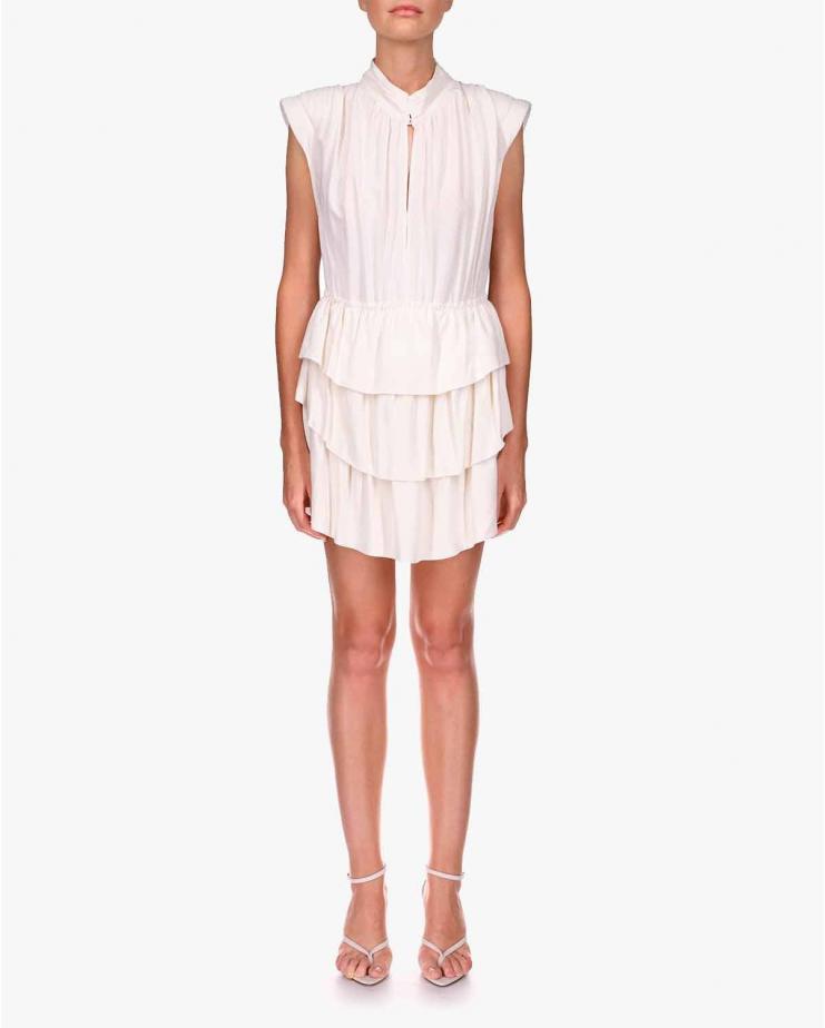 Calcie Dress in White