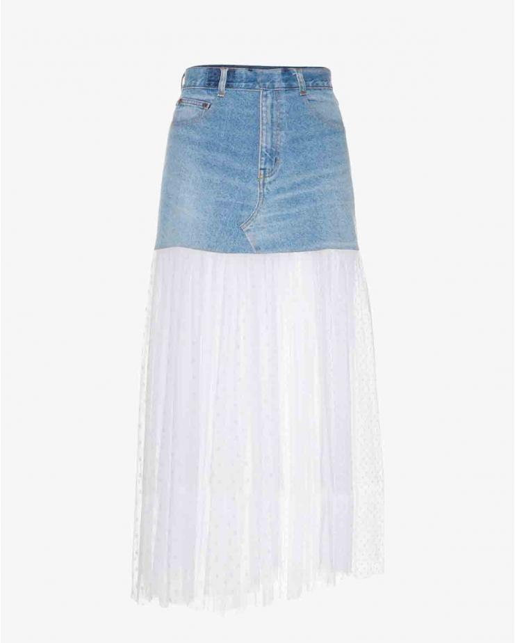 Maxi Skirt With Tulle Bottom