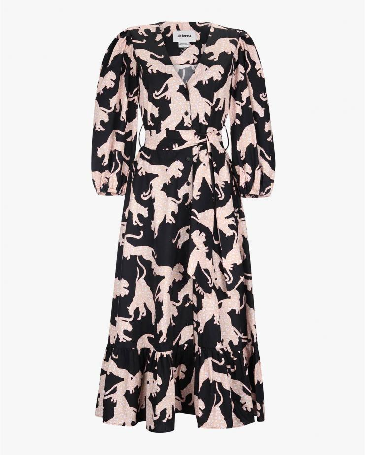 Fiera Dress in Puma Print